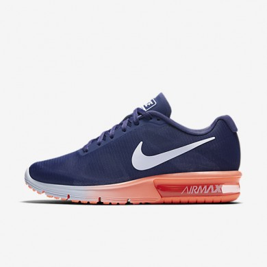Nike Air Max Sequent Dark Purple Dust/Bright Mango/Palest Purple Womens Running Shoes