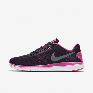 Nike Flex 2016 RN Purple Dynasty/Fire Pink/White/Cool Grey Womens Running Shoes