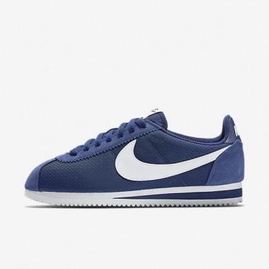 Nike Classic Cortez 15 Nylon Loyal Blue/White Womens Shoes