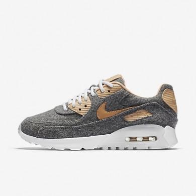 Nike Air Max 90 Ultra Premium Cool Grey/White/Vachetta Tan Womens Shoes