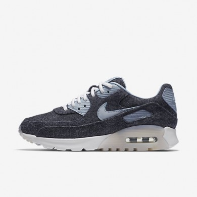 Nike Air Max 90 Ultra Premium Midnight Navy/White/Blue Grey Womens Shoes
