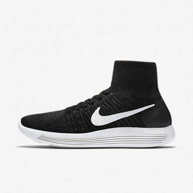 Nike LunarEpic Flyknit Black/Anthracite/Volt/White Womens Running Shoes