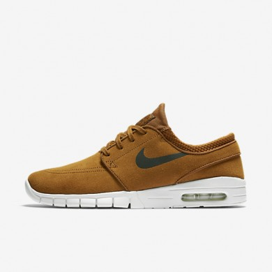 Nike SB Stefan Janoski Max L Hazelnut/Ivory/Clay Orange/Black Mens Skateboarding Shoes