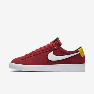 sports shoes dc058 aa80f Nike SB Blazer Low GT University Red Black University Gold White Mens  Skateboarding