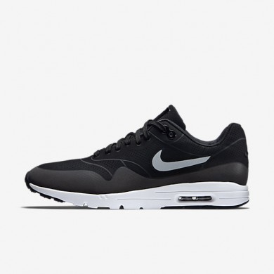 Nike Air Max 1 Ultra Moire Black/Metallic Silver/White/Black Womens Shoes
