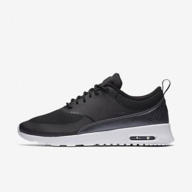 Nike Air Max Thea Textile Black/White/Metallic Hematite/Black Womens Shoes