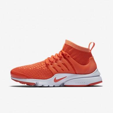 Nike Air Presto Ultra Flyknit Bright Mango/Bright Crimson Womens Shoes