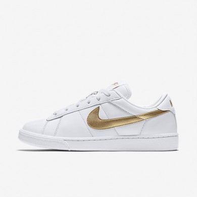 Nike Court Classic White/Desert/Metallic Gold Womens Shoes