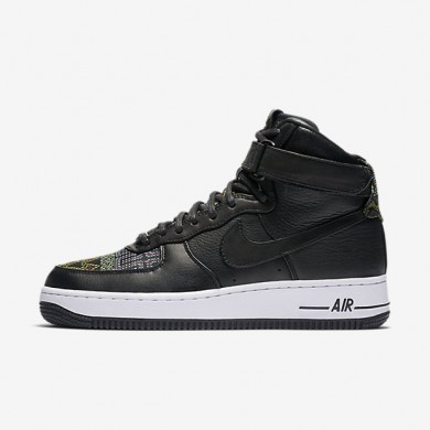 Nike Air Force 1 High BHM Black/Noble Red/Summit White/Black Womens Shoes