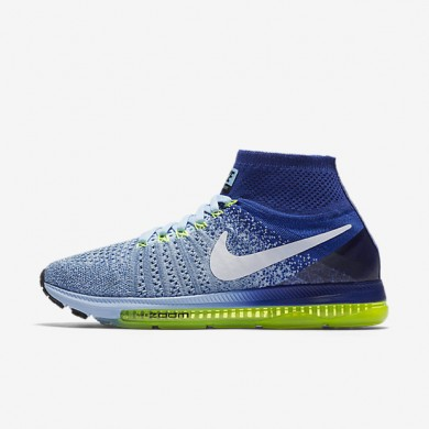 Nike Air Zoom All Out Flyknit Bluecap/Deep Royal Blue/Volt/White Womens Running Shoes