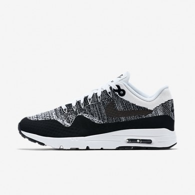 Nike Air Max 1 Ultra Flyknit White/Black/Black Womens Shoes
