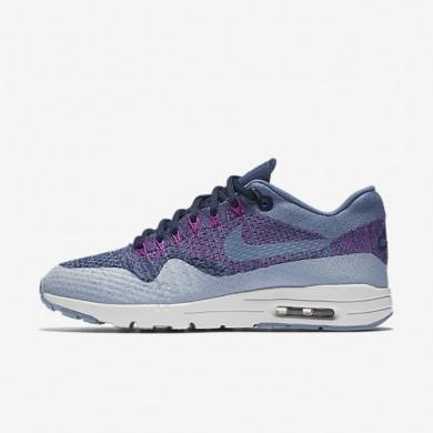 Nike Air Max 1 Ultra Flyknit Ocean Fog/College Navy/Blue Grey/Ocean Fog Womens Shoes