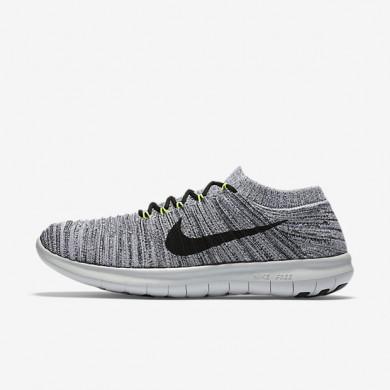 Nike Free RN Motion Flyknit Grey/White/Black Womens Running Shoes