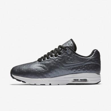 Nike Air Max 1 Ultra Premium Jacquard Metallic Hematite/Dark Grey/Summit White/Black Womens Shoes