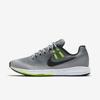 Nike Air Zoom Structure 20 Shield Cool Grey/Wolf Grey/Volt/Black Womens Running Shoes