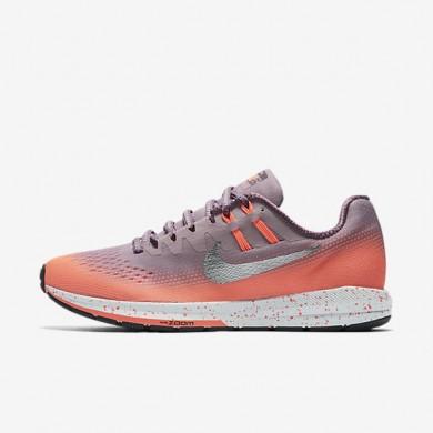 Nike Air Zoom Structure 20 Shield Plum Fog/Bright Mango/Purple Shade/Metallic Silver Womens Running Shoes