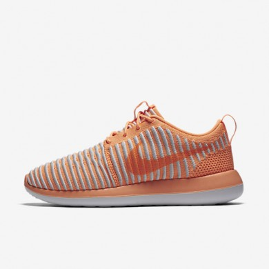 7068f95641172 Nike Roshe Two Flyknit Peach Cream Pure Platinum White Peach Cream Womens  Shoes