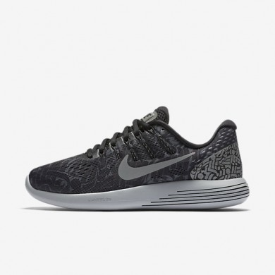 Nike LunarGlide 8 (Rostarr) Black/Dark Grey/White/Reflect Silver Womens Running Shoes