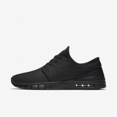 Nike SB Stefan Janoski Max Black/Anthracite/Black Mens Skateboarding Shoes