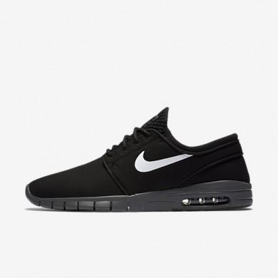 Nike SB Stefan Janoski Max Black/Dark Grey/White/White Mens Skateboarding Shoes