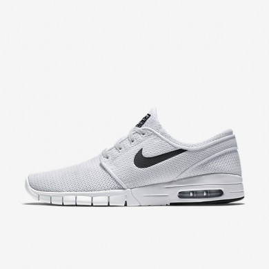 Nike SB Stefan Janoski Max White/Black Mens Skateboarding Shoes