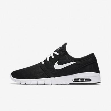 Nike SB Stefan Janoski Max Black/White Mens Skateboarding Shoes