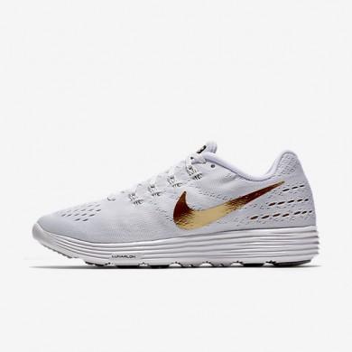 Nike LunarTempo 2 White/Metallic Gold Womens Running Shoes