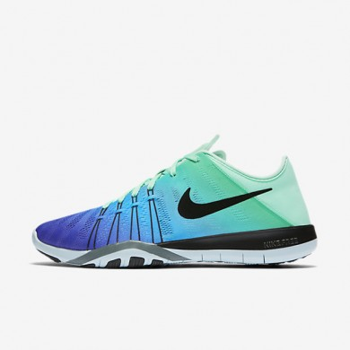 Nike Free TR 6 Spectrum Green Glow/Glacier Blue/Hasta/Black Womens Training Shoes