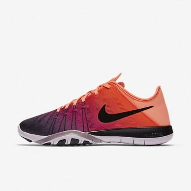 Nike Free TR 6 Spectrum Bright Mango/Bleached Lilac/Purple Smoke/Black Womens Training Shoes