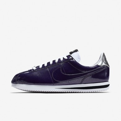 Nike Cortez Basic Premium QS Ink/White/Metallic Silver/Ink Mens Shoes
