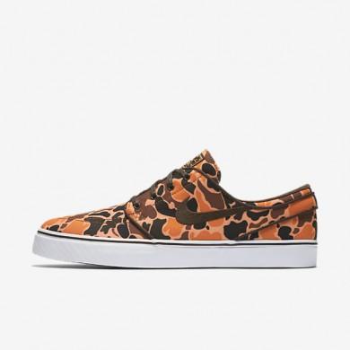 Nike SB Zoom Stefan Janoski Canvas Premium Hazelnut/White/Peach Cream/Baroque Brown Mens Skateboarding Shoes