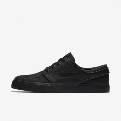 Nike SB Zoom Stefan Janoski Leather Black/Anthracite/Black Mens Skateboarding Shoes