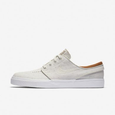 Nike SB Zoom Stefan Janoski Leather Ivory/Hazelnut/Light Bone Mens Skateboarding Shoes