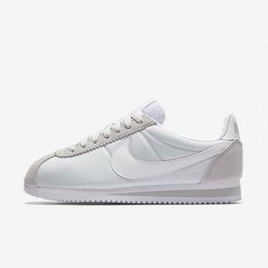 Nike Classic Cortez 15 Nylon Pure Platinum/White Womens Shoes