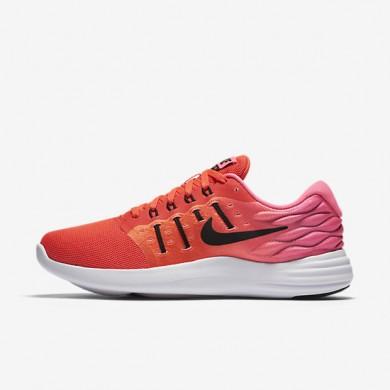 Nike LunarStelos Bright Crimson/Pink Blast/White/Black Womens Running Shoes