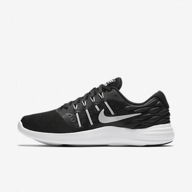 Nike LunarStelos Black/Anthracite/White/Metallic Silver Womens Running Shoes