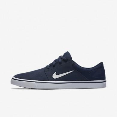 Nike SB Portmore Midnight Navy/Gum Light Brown/White unisex Skateboarding Shoes