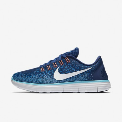 huge selection of c9e27 590a8 Nike Free RN Distance Coastal Blue Off White Heritage Cyan Womens Running  Shoes