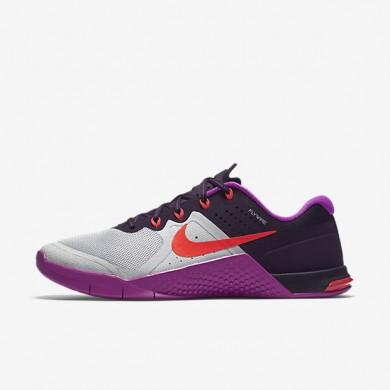 new concept d2d84 de686 Nike Metcon 2 Pure Platinum Hyper Violet Purple Dynasty Total Crimson  Womens Training