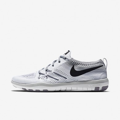 0221c3feebb5b Nike Free TR Focus Flyknit White Wolf Grey Black Womens Training Shoes