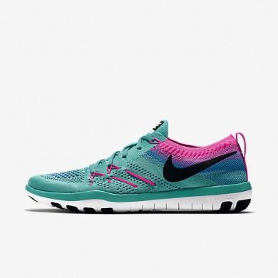 Nike Free TR Focus Flyknit Hyper Jade/Pink Blast/Black Womens Training Shoes