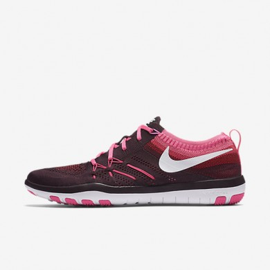 Nike Free TR Focus Flyknit Deep Burgundy/Pink Blast/White Womens Training Shoes