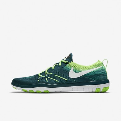 Nike Free TR Focus Flyknit Midnight Turquoise/Electric Green/White Womens Training Shoes