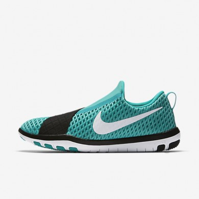 bc92345d793a5 Nike Free Connect Clear Jade Black White Womens Training Shoes ...