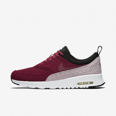 Nike Air Max Thea Premium Noble Red/Black/Plum Fog/Noble Red Womens Shoes