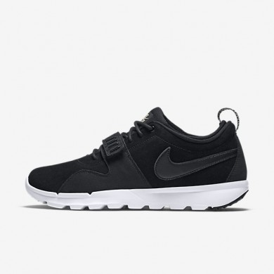 Nike SB Trainerendor Leather Black/White/Black Mens Shoes