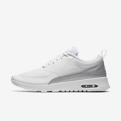 Nike Air Max Thea Textile White/Metallic Platinum/Pure Platinum/White Womens Shoes