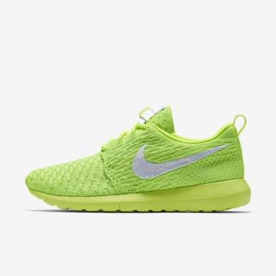 Nike Roshe Flyknit NM Volt/Electric Green/White Womens Shoes