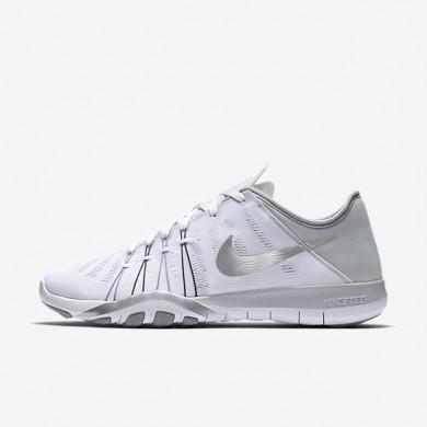 Nike Free TR 6 White/Wolf Grey/Metallic Silver Womens Training Shoes