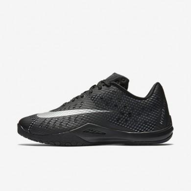 Nike HyperLive (Men's Sizing) Black/Dark Grey/Cool Grey/Metallic Silver unisex Basketball Shoes